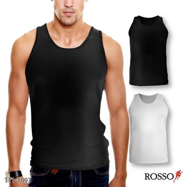 ROSSO เสื้อคอกลมแขนกุด ผ้า Mesh รุ่น TT1-1097