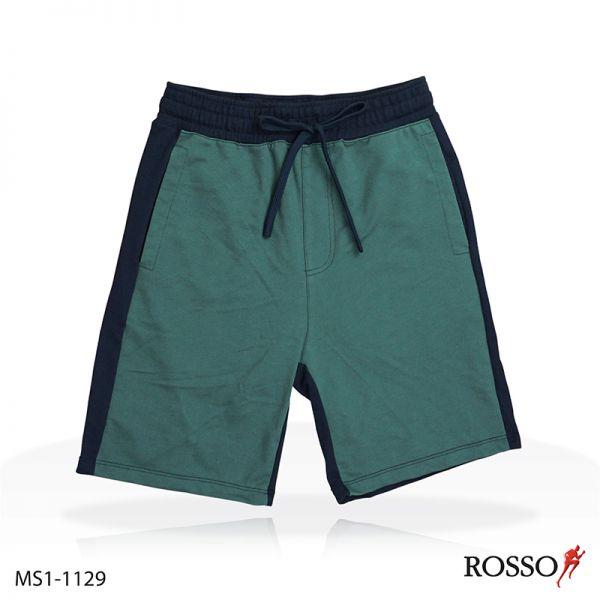 ROSSO กางเกงขาสั้นตัดต่อผ้า French TerryMS1-1129