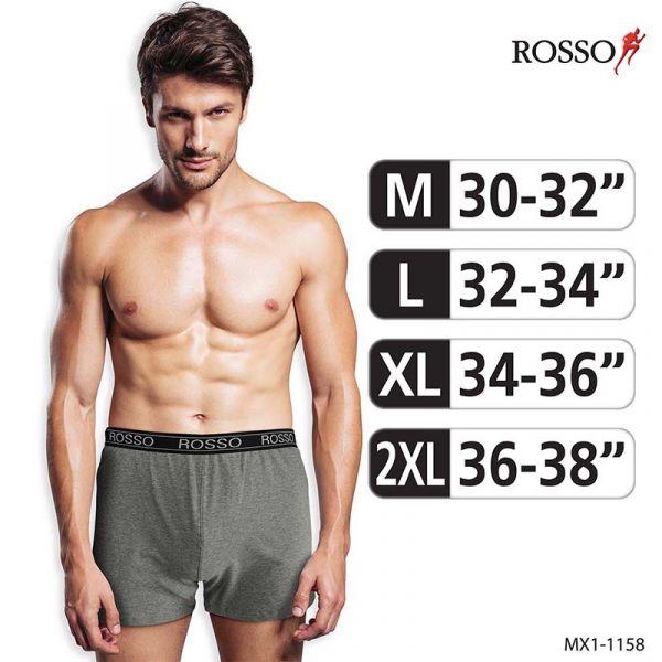 ROSSO กางเกงชั้นในชาย Boxer ผ้า Cotton Spandex MX1-1158