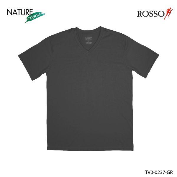 ROSSO เสื้อคอวี ผ้า MODAL รุ่น TV0-0237