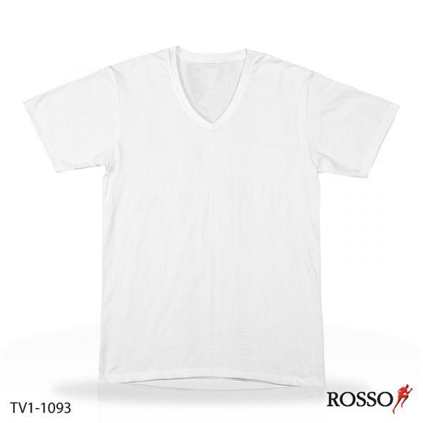 ROSSO เสื้อคอวีแขนสั้น ผ้าCool X TV1-1093