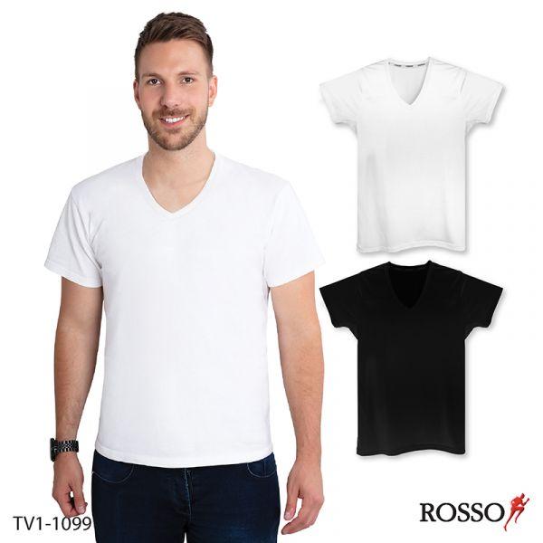 ROSSO เสื้อคอวีแขนสั้น ผ้าCool X+Mesh TV1-1099